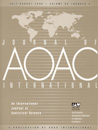 Journal of AOAC INTERNATIONAL - Print Individual 1 Year