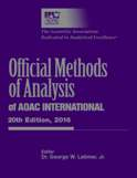 Official Methods of Analysis 20th Edition (2016) Print